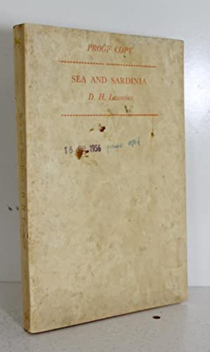 Sea and Sardinia: D H Lawrence