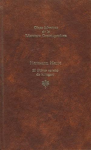 EL ULTIMO VERANO DE KLINGSOR,: Hermann Hesse