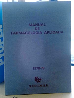 FICHERO CLINICO TERAPEUTICO / MANUAL DE FARMACOLOGIA APLICADA, (Libro + fichero): s/d