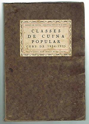 CLASSES DE CUINA POPULAR, Curs de 1924 ? 1925: Josep Rondissoni