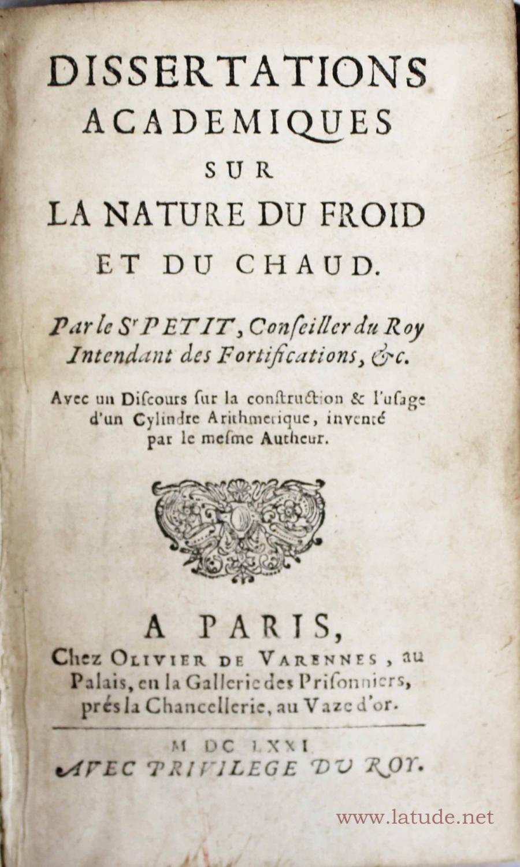 Dissertation sur la culture et la nature