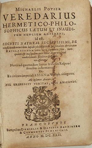 Veredarius hermetico-philosophicus laetum et inauditum nuncium adferens,: POTIER, Michel