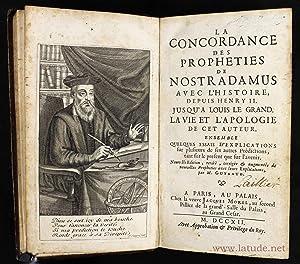 La concordance des prophéties de Nostradamus avec: GUYNAUD, [NOSTRADAMUS]