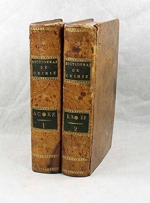 Dictionnaire de chimie, contenant la théorie et: MACQUER, Pierre-Joseph