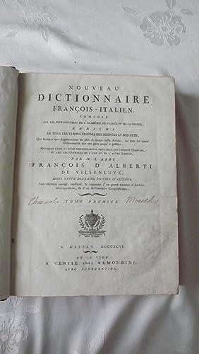 Nouveau dictionnaire françois-italien: ALBERTI DE VILLENEUVE