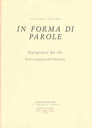 Emigranti do rie. Poeti in genovese del: Toso Fiorenzo (a