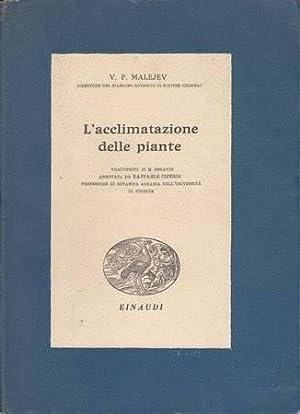 L'acclimatazione delle piante: Malejev V. P.