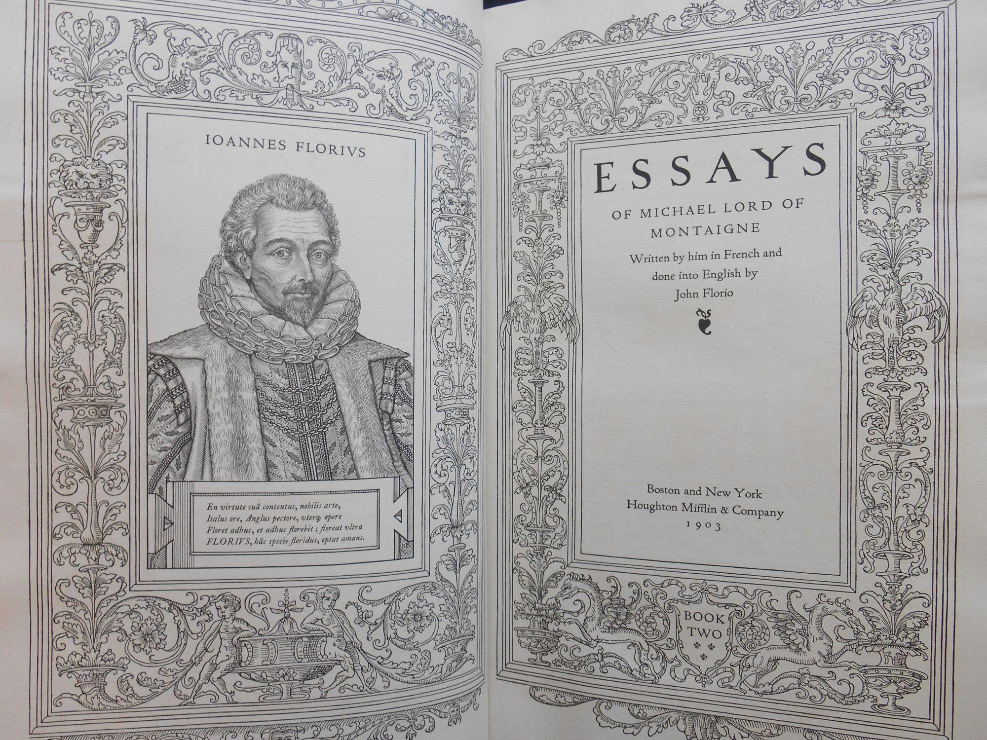 The Essays of Michael, Lord of Montaigne V1