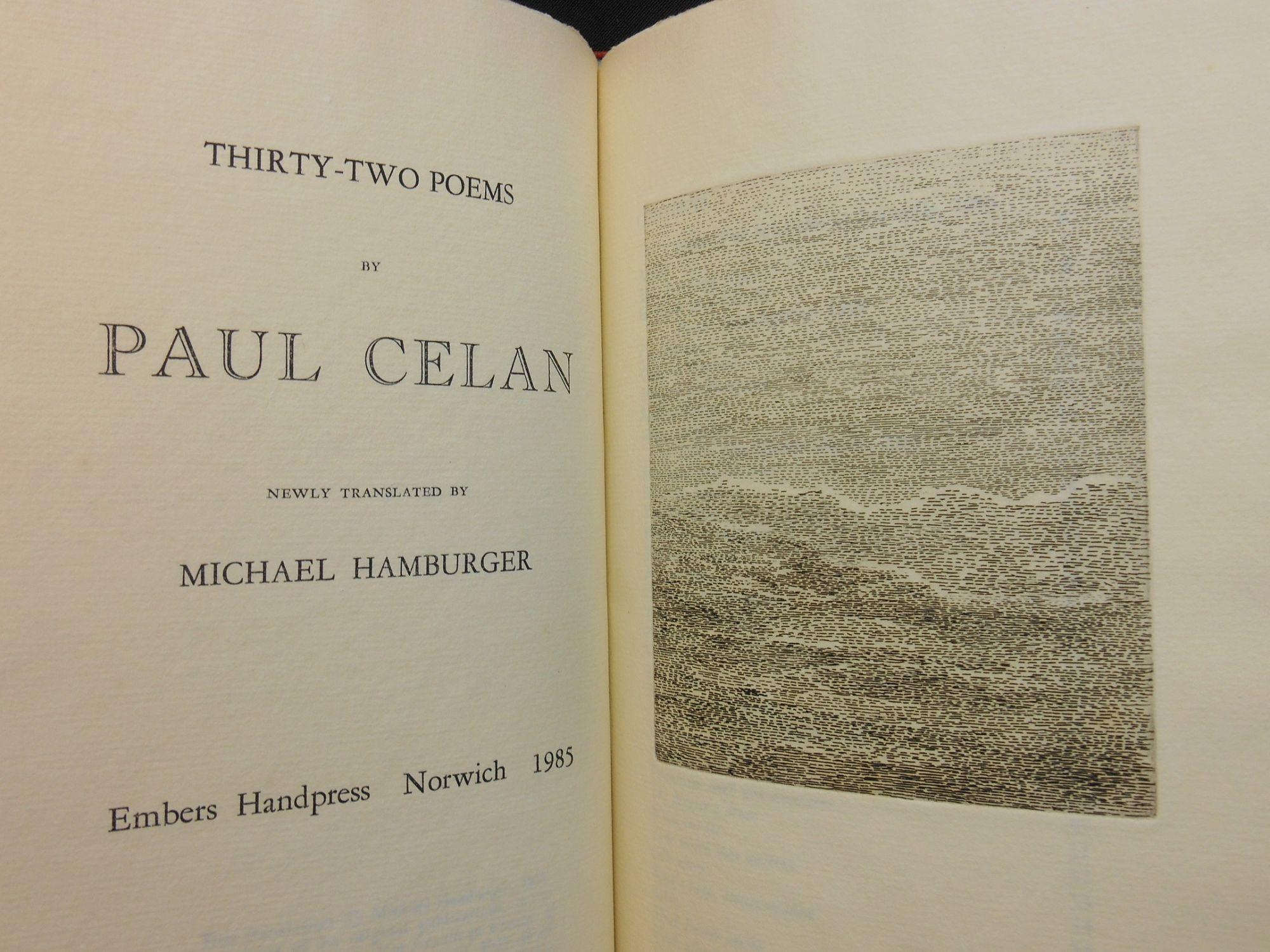 Thirty Two Poems By Paul Celan Newly