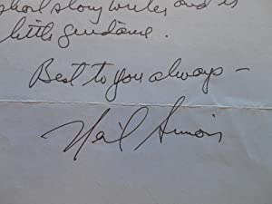 ALS: 1997 Letter, Neil Simon to Barnaby Conrad: Simon, Neil