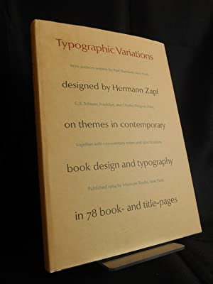 Typographic Variations designed by Hermann Zapf on themes in contemporary book design and ...