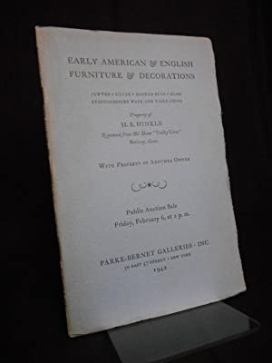 Auction Catalogue] Early American & English Furniture: Auction Catalogue]
