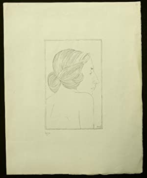 """Copper Engraving of """"Portrait of a Lady"""": Gill, Eric (Artist)"""