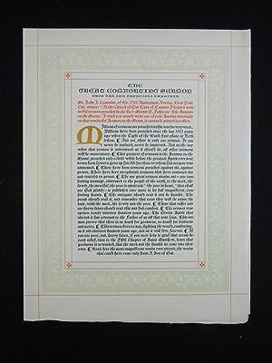 The Great Comforting Sermon; From the San Francisco Examiner: Fahey, Rev. Martin E.; Nash, John ...