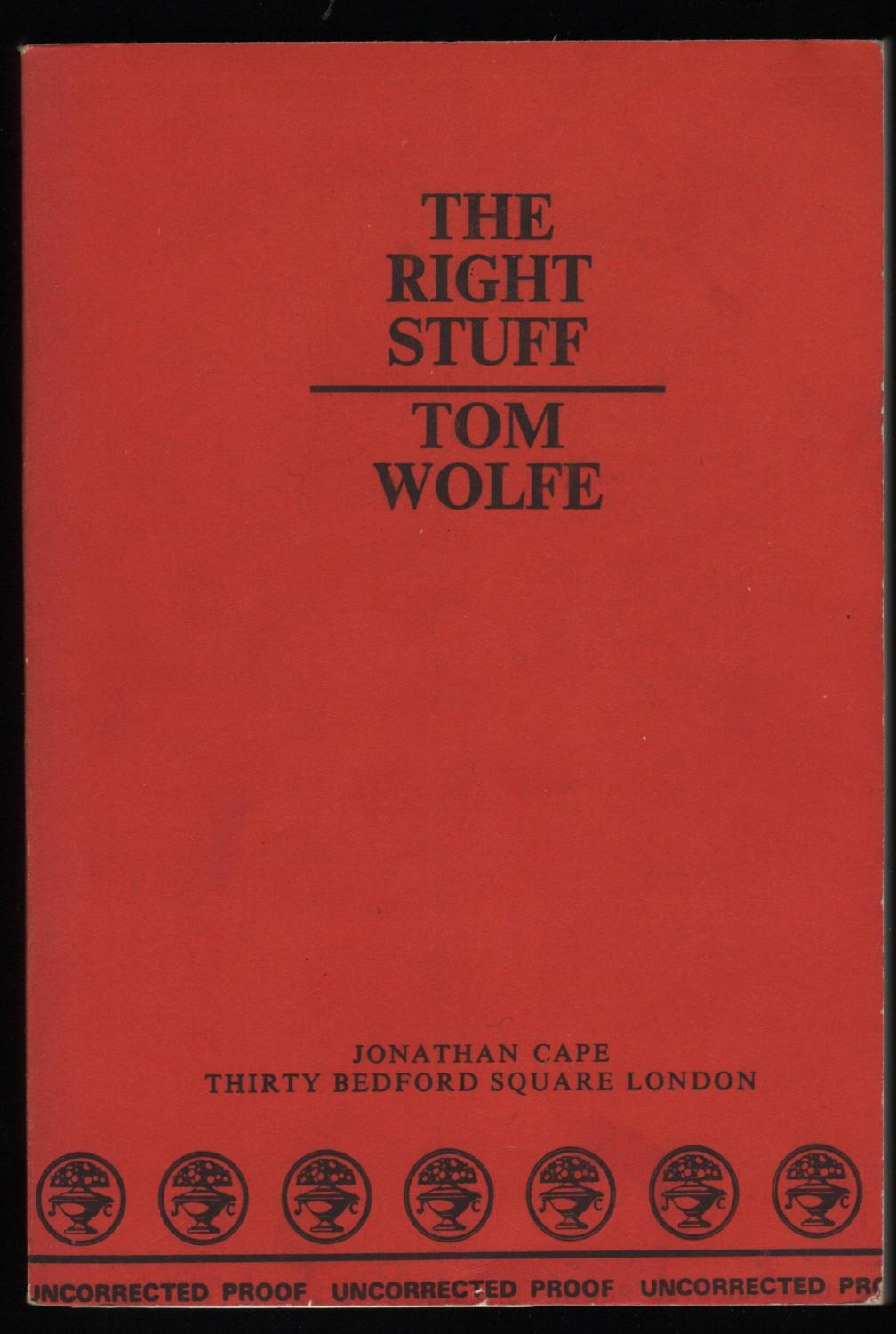essays on the right stuff by tom wolfe Tom wolfe's the right stuff tom wolfe's the right stuff the right stuff is a book authored by tom wolfe published in 1979 it is as a result of extensive interviews with the astronauts, their colleagues, their wives and family after they were chosen to participate in the mercury project that would have placed man on the orbit of the earth.