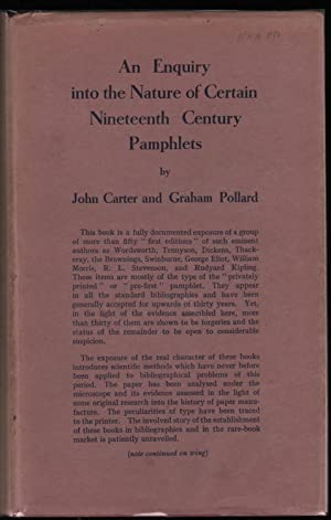 An Enquiry into the Nature of Certain Nineteenth Century Pamphlets: Carter, John; Pollard, Graham