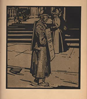 Sandwich Man / Trafalger Square (print): Nicholson, William (1872-1949)