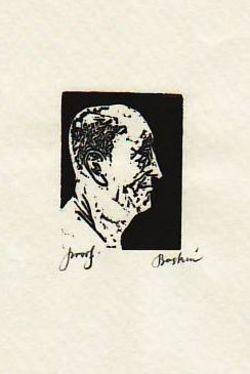 Sienese Head (print): Baskin, Leonard