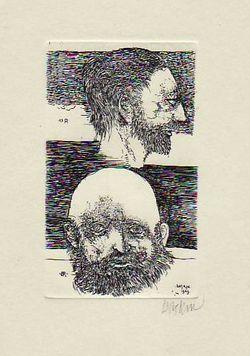 Dual Portrait Of Bresdin And Redon (print)