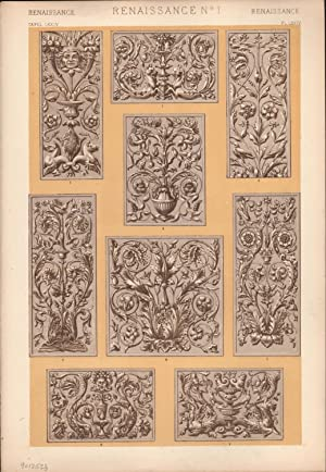 Renaissance No. 1. (PRINT) (GRAMMAR OF ORNAMENT): Jones, Owen