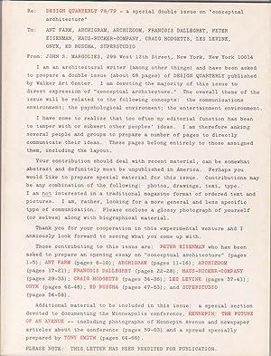 Notes on Conceptual Architecture: Towards a Definition (Design Quarterly 78/79): Ruscha, Ed ...