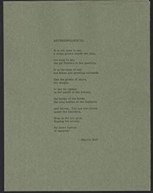 Anthropological (broadside)