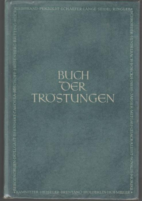 Buch Der Tröstungen Gedichte Erzählungen