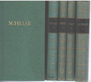 Schillers Werke in fünf Bänden Band 1 Gedichte,Prosaschriften,Band 2 Die Räuber,...