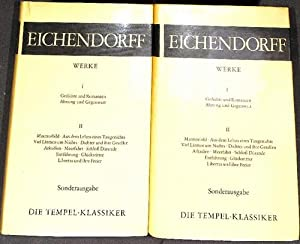 Werke von Joseph Eichendorff Joseph in zwei Bänden Band 1 Gedichte und Romanzen Ahnung und ...