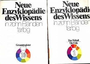 Neue Enzyklopädie des Wissens in zehn Bänden farbig Die Erde,Das Weltall ,Das Leben,...