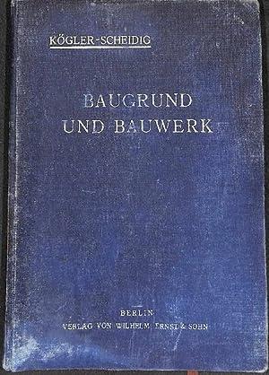 Baugrund und Bauwerk mit 298 Textzeichnungen bitte unbedingt buchbeschreibung,schlechter zustand ...
