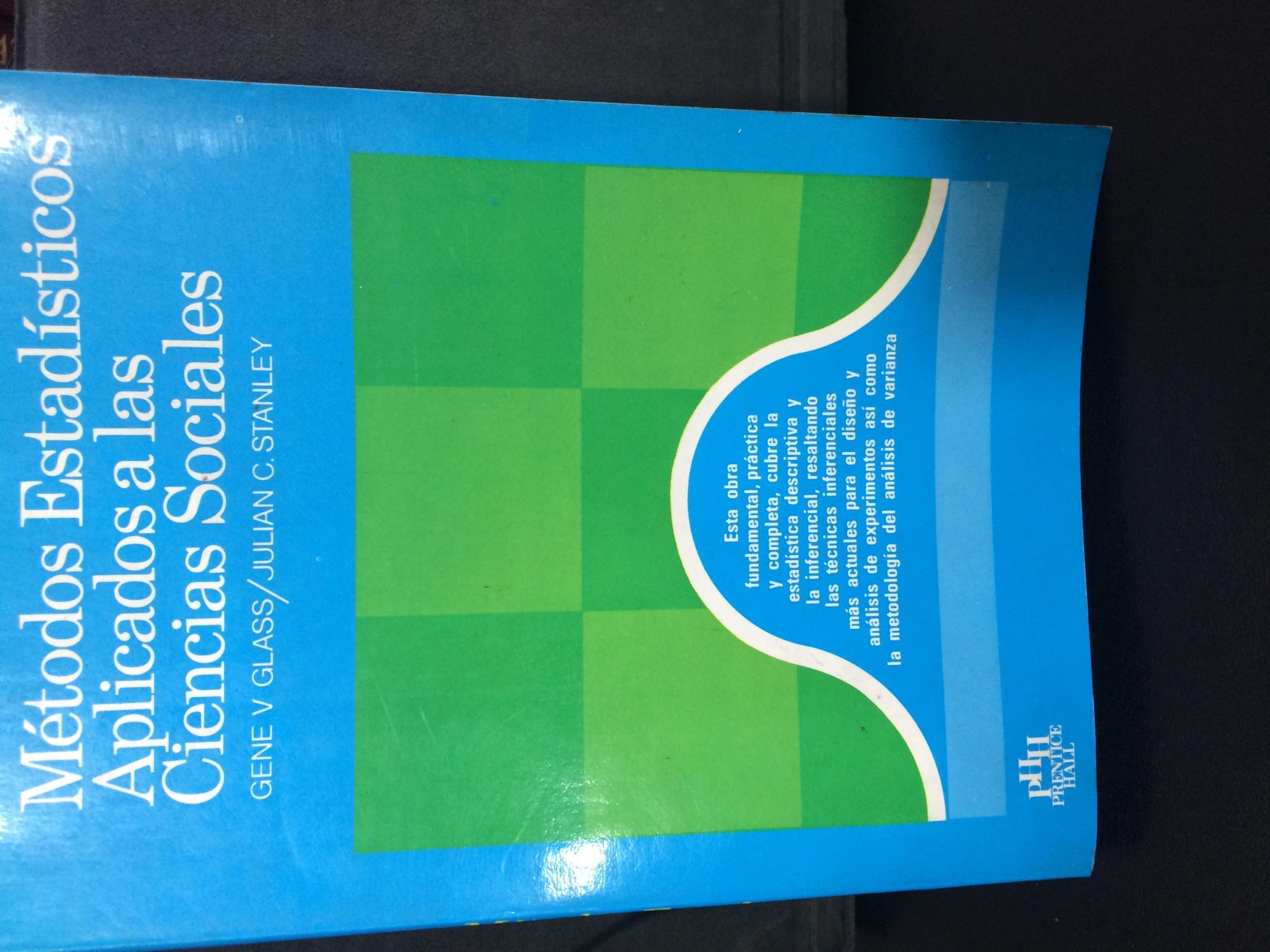 Métodos Estadísticos Aplicados a las Ciencias Sociales - Glass