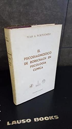 Psicodiagnóstico De Rorschach En Psicología Clínica (Personalidad,: Juan Antonio Portuondo