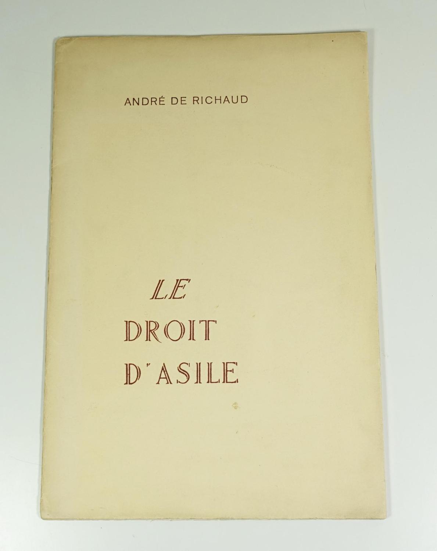 Le_droit_dasile_Premiers_poèmes_de_André_de_Richaud_1925__1930_RICHAUD_André_de_Bon_Couverture_souple