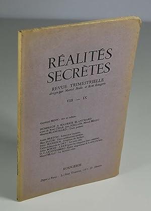 Revue) Réalités secrètes VIII - IX: Collectif) BEALU Marcel