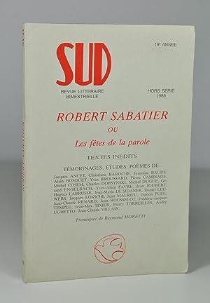 Revue Sud, Hors-Série 1989, 19e année -: Collectif) Robert SABATIER