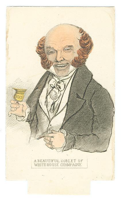 Political Campaign Transformation Card Depicting Van Buren.: Van Buren, Martin; Johnston, David ...