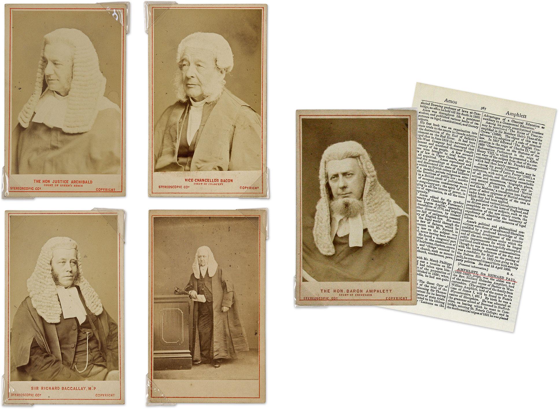 A Collection Of Photographs Cartes De Visite Thirty British