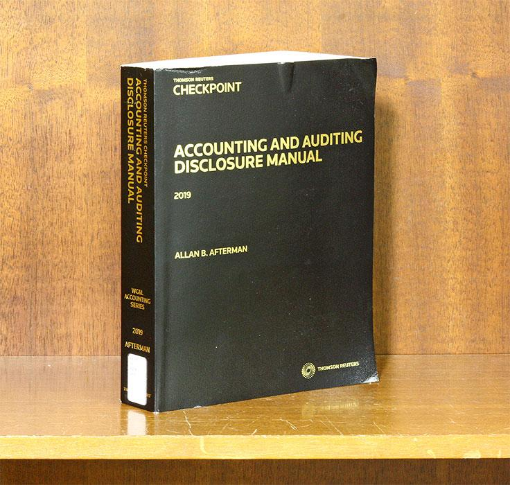 Accounting and Auditing Disclosure Manual
