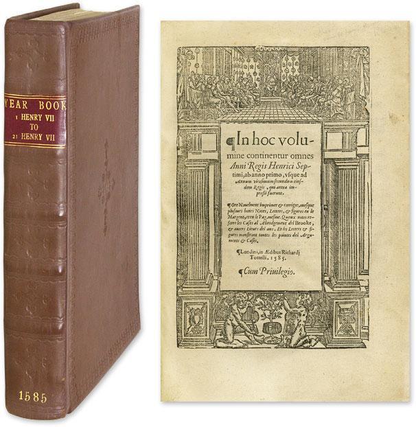 In Hoc Volumine Continentur Omnes Anni Regis Henrici Septimi: Year Book. Henry VII