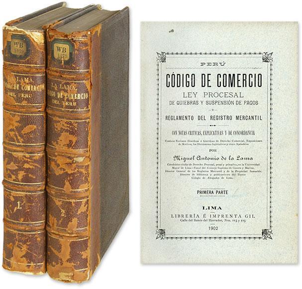 Codigo de Comercio y ley Procesal de Quiebras y Suspension de.: Lama, Miguel Antonio de la