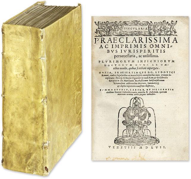 Singularia Praeclarissima ac Imprimis Omnibus Jurisperitis.: Pontano, Ludovico; Romanus, Ludovico