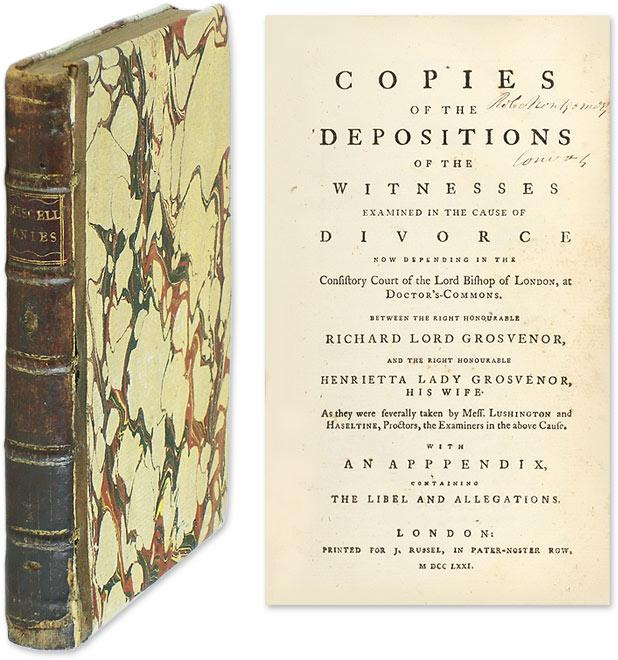 Copies of the Depositions of the Witnesses Examined in the Cause of.: Trial; Grosvenor Cause
