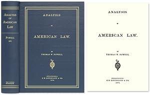 Analysis of American Law: Powell, Thomas W.