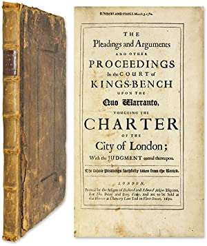 The Pleadings and Arguments and Other Proceedings in the Court.: Sawyer, Sir Robert