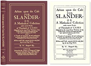 Action Upon the Case for Slander. Or a Methodical Collection.: Sheppard, W.; Paul Mitchell (New ...