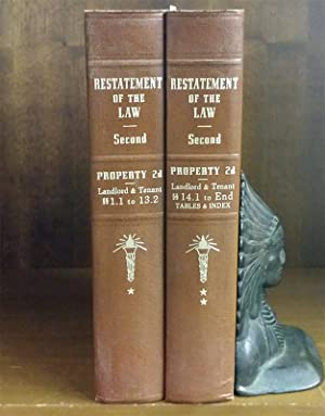 Restatement of the Law Property 2d Landlord and Tenant 2 Vols: American Law Institute