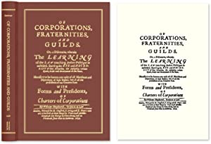 Of Corporations, Fraternities, and Guilds: Or, A Discourse, Wherein.: Sheppard, William, d. 1675