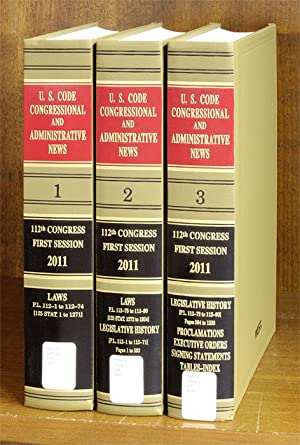United States Code Congressional And Administrative News 2011 Pts 1-3: Thomson West