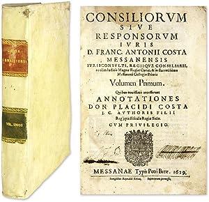 Consiliorum Sive Responsorum Iuris: Costa, Francesco Antonio; Costa, Placidio